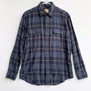 Timberland Men's Flannel Button Down Shirt Size Me